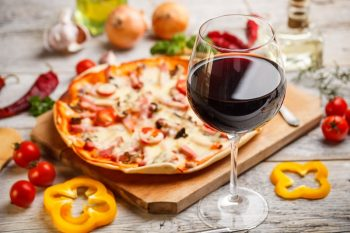 Wine and Pizza Carbs in Wine Carbohydrates Pastry