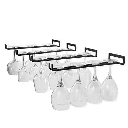 Wine Glass Rack Intended Wallniture Wine Glass Holder Stemware Hanging Racks That Will Look Good In Any Kitchen