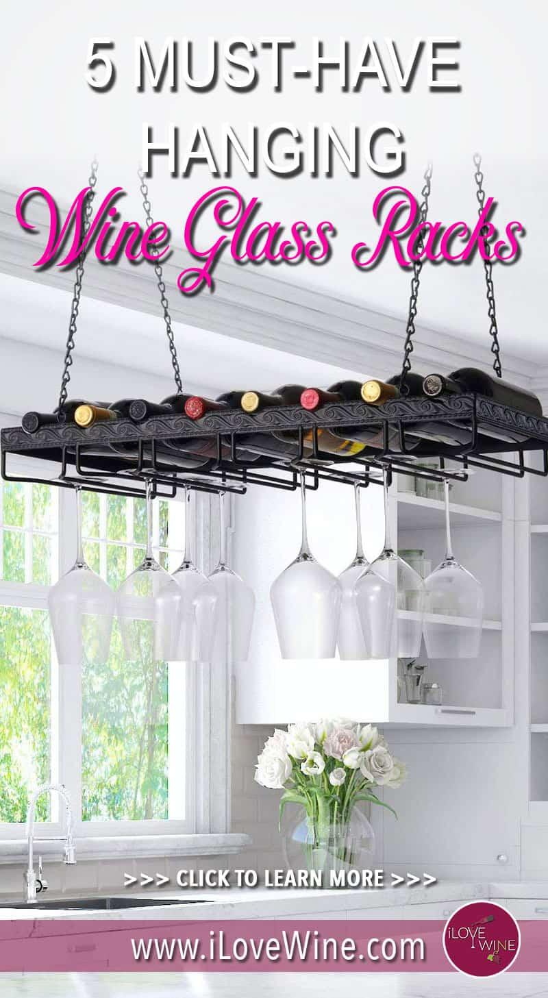 5 Hanging Wine Glass Racks That Will Look Good In Any Kitchen. Wine Racks. Wine Glass Racks. Click to learn more! Love wine #lovewine #wine #wineracks #wineglassracks
