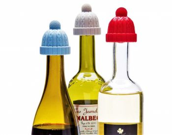 Bottle Stopper: Don't Let Your Wine Catch a Cold with Beanie Cap Stoppers