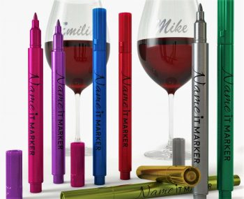 Wine Markers: A Wine Glass with Your Name on It