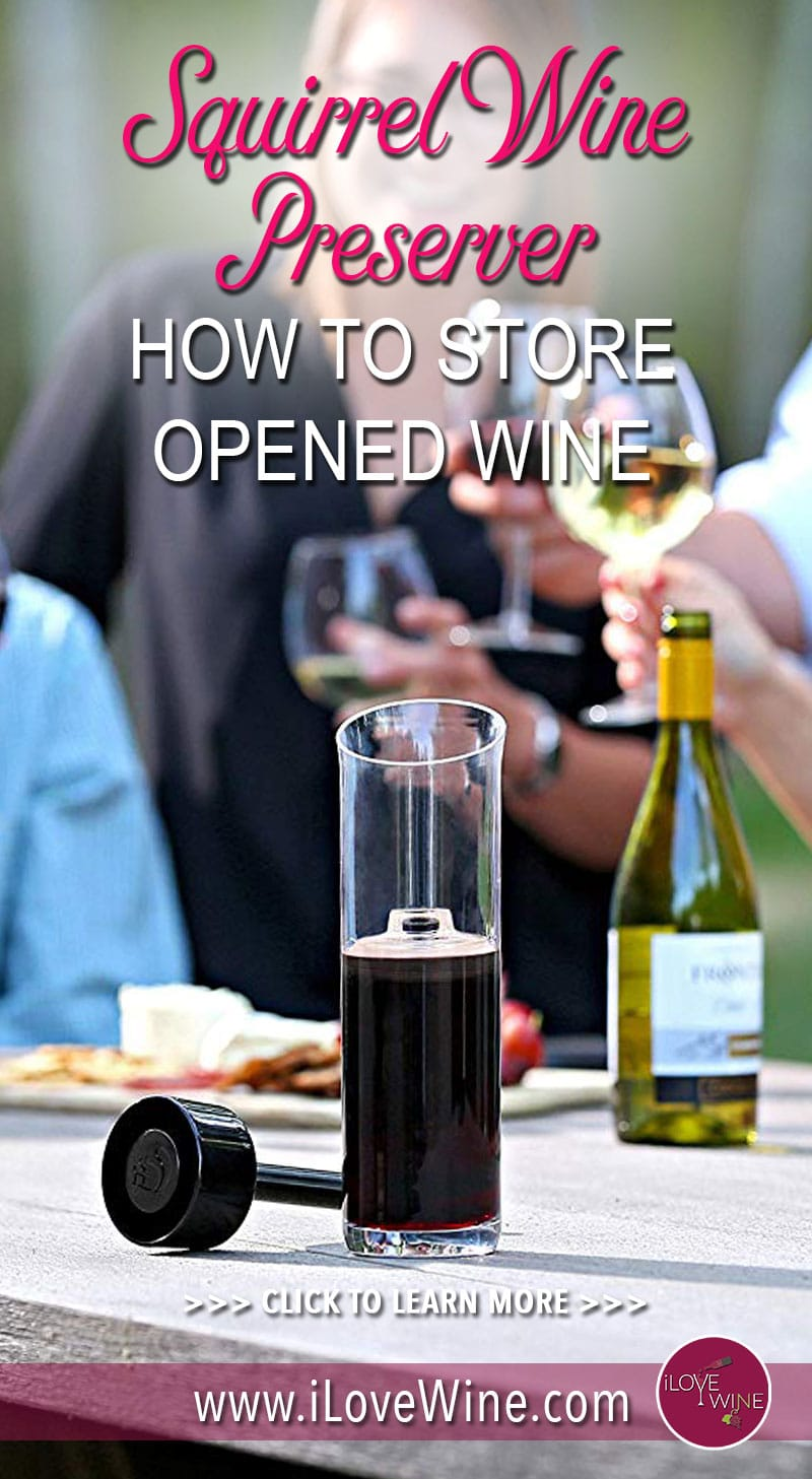With the Squirrel you will be able to store your wine for days, weeks, and maybe even months. Click to learn more about The Squirrel Wine Preserver! Love wine | I Squirrel Wine Preserver | #lovewine #SquirrelWinePreserver